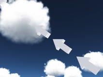 Arrow points diagonally upward Stock Photo