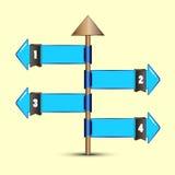Arrow pole option flag choice. EPS 10 Vector Royalty Free Stock Image
