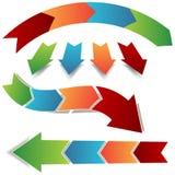 Arrow Process Icons Stock Photo