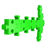 Arrow Puzzle Showing Right Way Royalty Free Stock Images