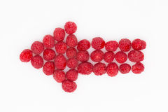 Arrow of raspberries Stock Photo