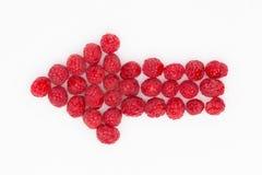 Arrow of raspberries Stock Photo