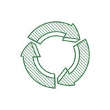 Arrow recycle circle organic ecology icon. Vector graphic Royalty Free Stock Photography