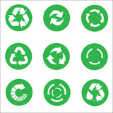 Arrow recycle icon set vector Royalty Free Stock Photos