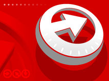 Arrow on red backround. Time and business concept Royalty Free Stock Photography