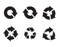 Arrow refresh reload rotation  icons Stock Photography