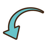 Arrow reload symbol isolated icon Royalty Free Stock Photos