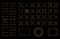 Arrow retro elements in art deco. Arrows, thin line, symbols and elements. Vector illustration arrow. Vintage style. Arrow retro elements in art deco style. Art Stock Photo