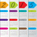 Arrow ribbon calendar for the year 2015. Arrow ribbon calendar design for the year 2015 Royalty Free Stock Photos