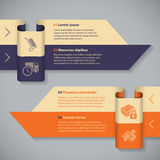 Arrow ribbon infographic with 4 options Royalty Free Stock Images