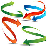 Arrow Ribbon Set. An image of a 3d arrow ribbon set Stock Image