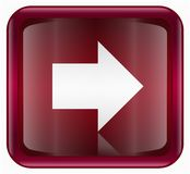Arrow right icon red Stock Image