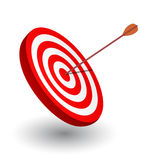 Arrow right on the target. Symbol of winning Royalty Free Stock Photo