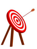 Arrow right on the target. Symbol of winning Stock Photography
