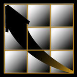 Arrow Rising. Chart or graph with a rising black arrow Royalty Free Illustration