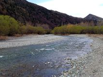 Arrow River (Ford of Bruinen), New Zealand Royalty Free Stock Image