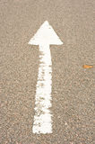 Arrow on the road. Stock Image