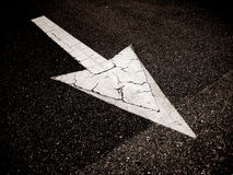 Arrow on the road Royalty Free Stock Images