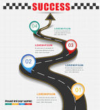 Arrow road navigate to success concept. Arrow road navigate to business success concept Royalty Free Stock Photography