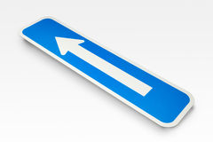 Arrow Road Sign. On a white background Stock Photography
