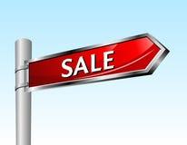 Arrow road sign. Sale Royalty Free Stock Photos