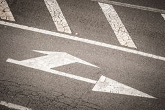 Arrow on the road Royalty Free Stock Image