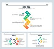 Arrow, rotation element, set presentation slide and powerpoint template Stock Photos