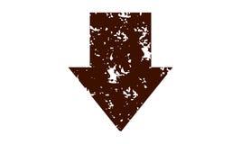 Arrow Rough Down Template. Logo Design Template Vector Stock Image