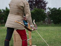 Arrow`s Challenge: Medieval Event Reconstruction with Archer`s C Royalty Free Stock Photo