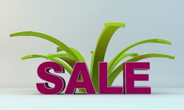 Arrow Sale. 3d arrows and sale on white background Royalty Free Stock Photography