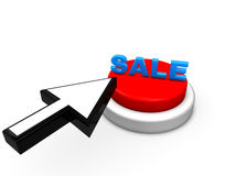 Arrow and Sale Button Royalty Free Stock Photos