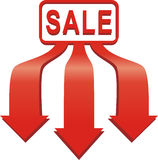 Arrow sale sticker. Stock Photo
