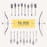 Arrow set. Decorative bows and arrows. Royalty Free Stock Photo