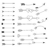 Arrow. Set of elements. Arrow. A heart. Set of elements. Sketch royalty free illustration