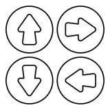 Arrow set icon, outline style Stock Images