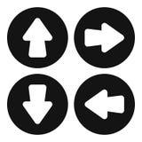 Arrow set icon, simple style. Arrow set icon. Simple illustration of arrow set vector icon for web design Stock Photos