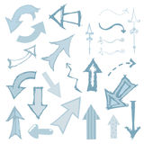 Arrow Set Monochrome. Artsy set of arrows in a sketchy style Royalty Free Stock Photography