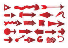 Arrow set vector. Red arrow set vector illustration on white background Stock Photo