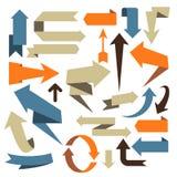 Arrow Set - volumetric arrow designs Royalty Free Stock Photography