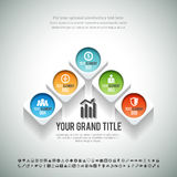 Arrow Shape Infographic Royalty Free Stock Photo