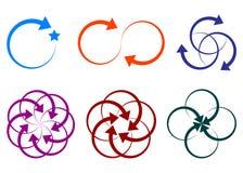Arrow shape logos. Illustration of arrow shape logos design isolated on white background Royalty Free Stock Images