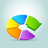 Arrow shape Pie Chart Stock Image