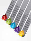 Arrow shaped advertising labels Royalty Free Stock Photo