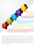 Arrow shaped advertising template with text. Arrow shaped advertising template with colored text Stock Photos