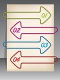 Arrow shaped binding clip infographic design Stock Photos