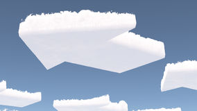 Arrow shaped clouds Stock Images