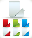 Arrow shaped vertical banners. Stock Photos