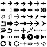 Arrow shapes. Vector set of arrow shapes isolated on white royalty free illustration