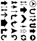 Arrow shapes. Set of 28 vector arrow shapes in various styles royalty free illustration