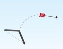 Arrow Shooting. Red arrow shooting across the sky Stock Image